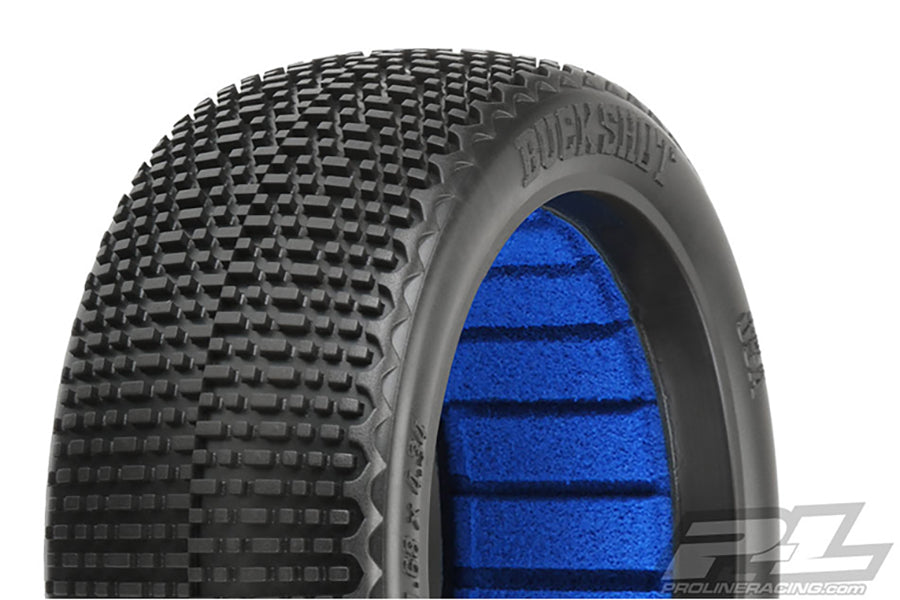 Buck Shot S4 Super Soft Long Wear 1/8th Off Road Buggy Tyres & Insert - 1pr