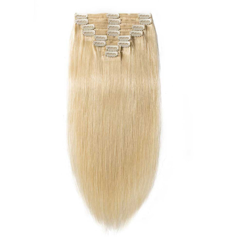 CLIP INS 7 PIECES BLONDE STRAIGHT 140 GRAMS