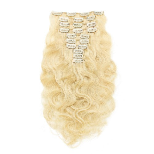 CLIP INS 7 PIECES BLONDE BODY WAVE 140 GRAMS