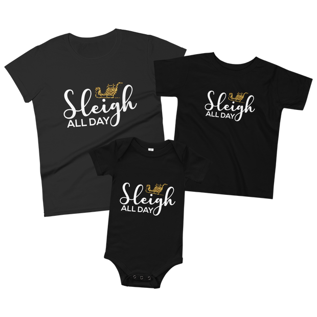 Cute Parent and Child Matching T-Shirt and Bodysuit Set Son of a Nut Cracker