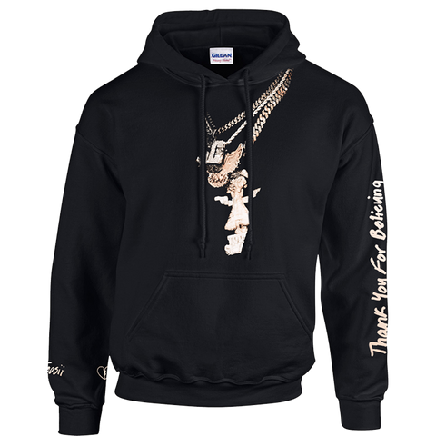 Thank You For Believing Chains Black Hoodie