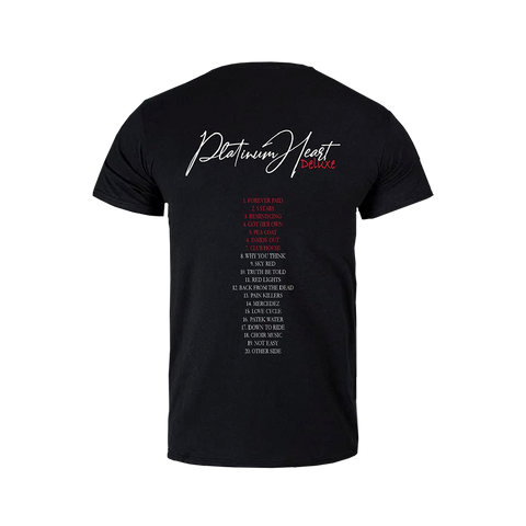 PLATINUM HEART BLACK T-SHIRT + DELUXE DIGITAL ALBUM
