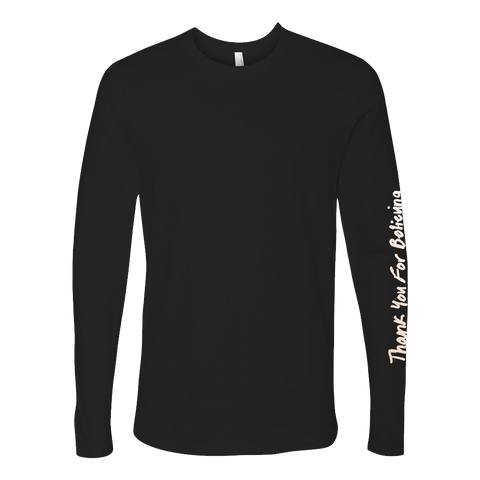 Thank You For Believing Black Longsleeve
