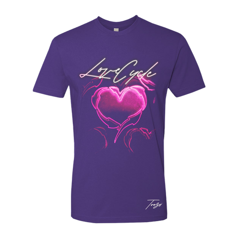 LOVE CYCLE PURPLE T-SHIRT + DIGITAL ALBUM
