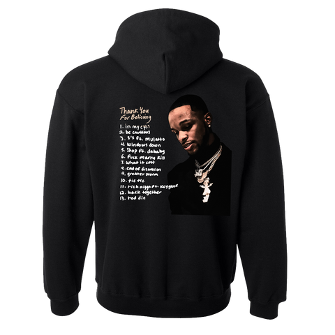 Thank You For Believing Tracklist Hoodie