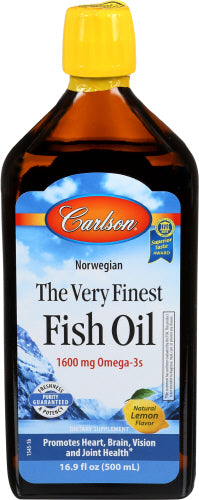 Carlson Fish Oil 1600 mg Omega 3s Lemon Flavor 16.9 oz