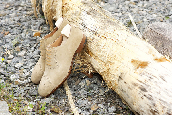Saint Crispin's Sand Suede Oxfords
