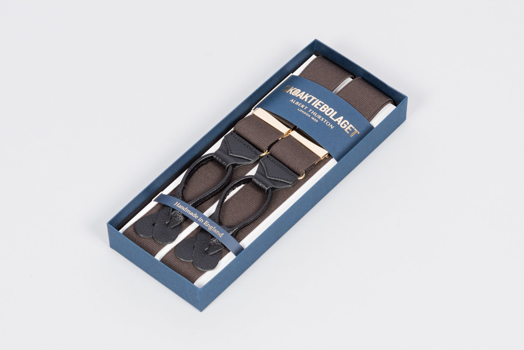 Albert Thurston Braces - Dark Brown