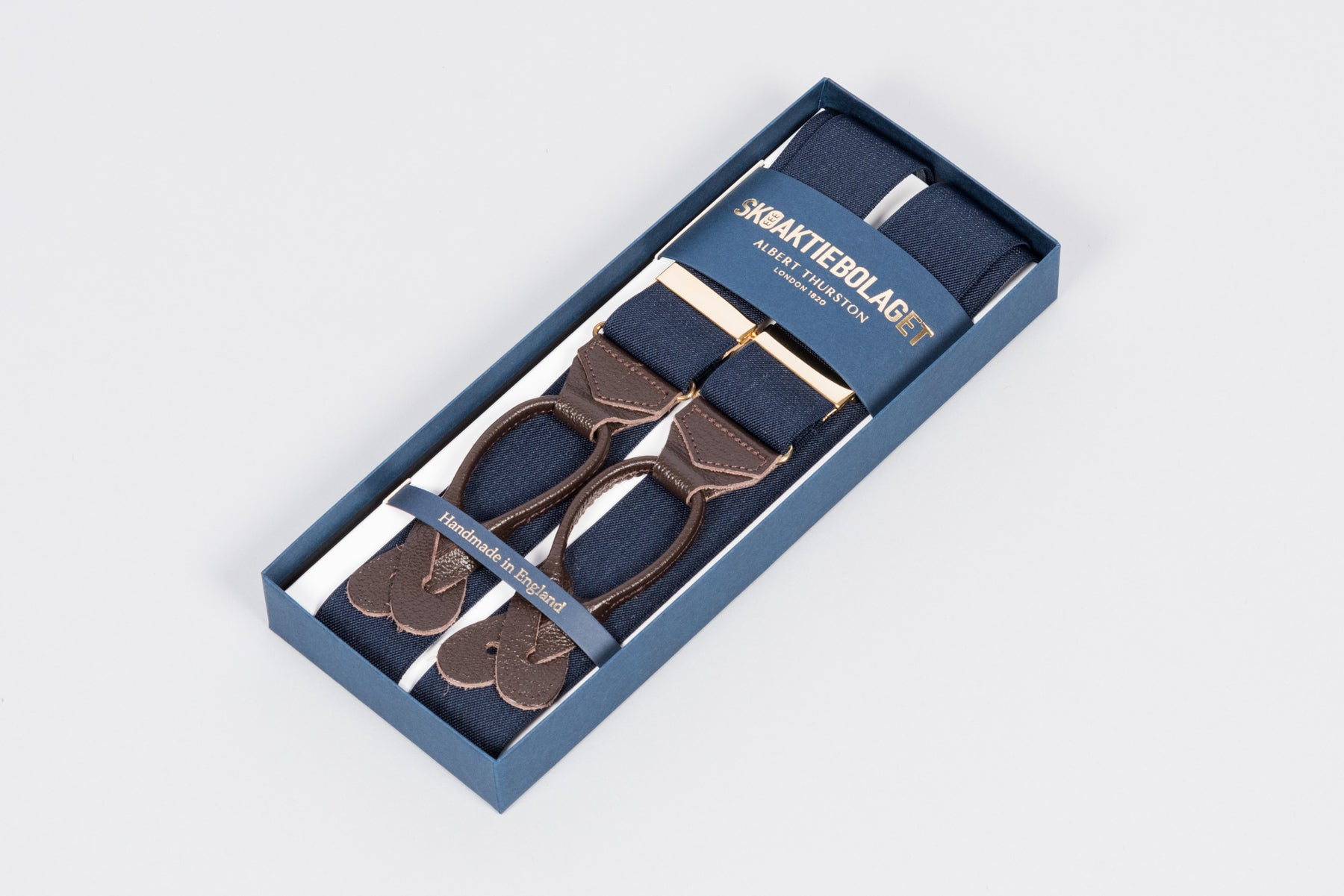 Albert Thurston Braces - Navy