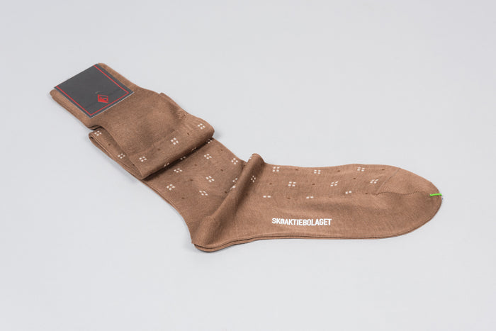 Sozzi  Cotton Socks - Sand Pattern