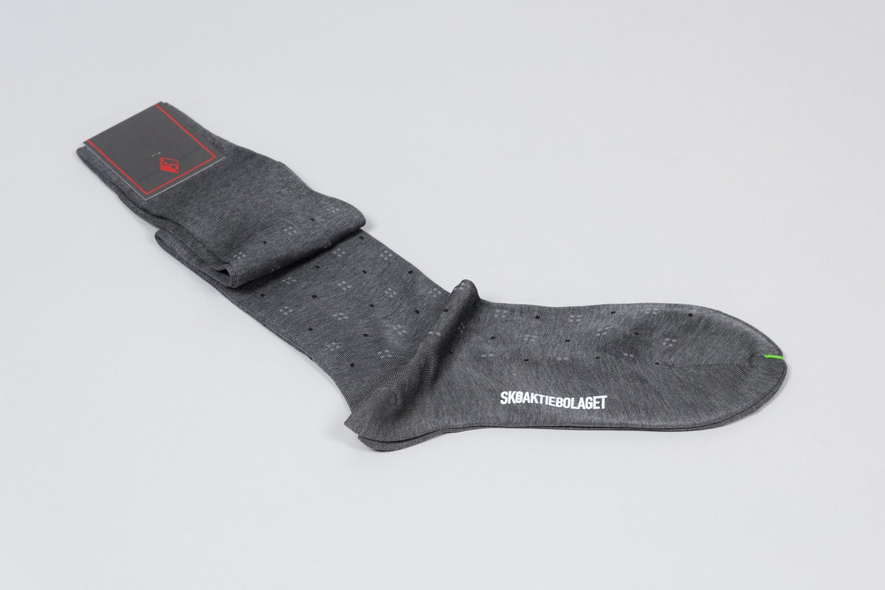 Sozzi  Cotton Socks - Grey Pattern
