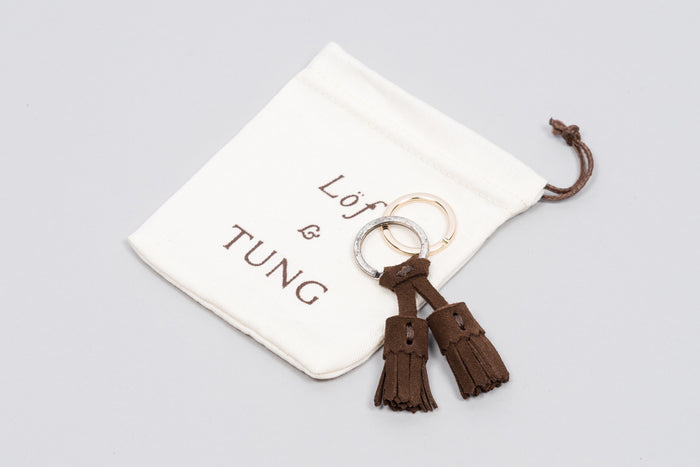 Löf & Tung Keyring Dark Brown Suede