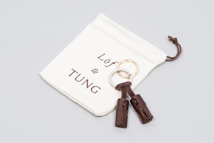 Löf & Tung Keyring Dark Brown Utah
