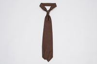 EG Cappelli Tie - Dark Brown Grenadine