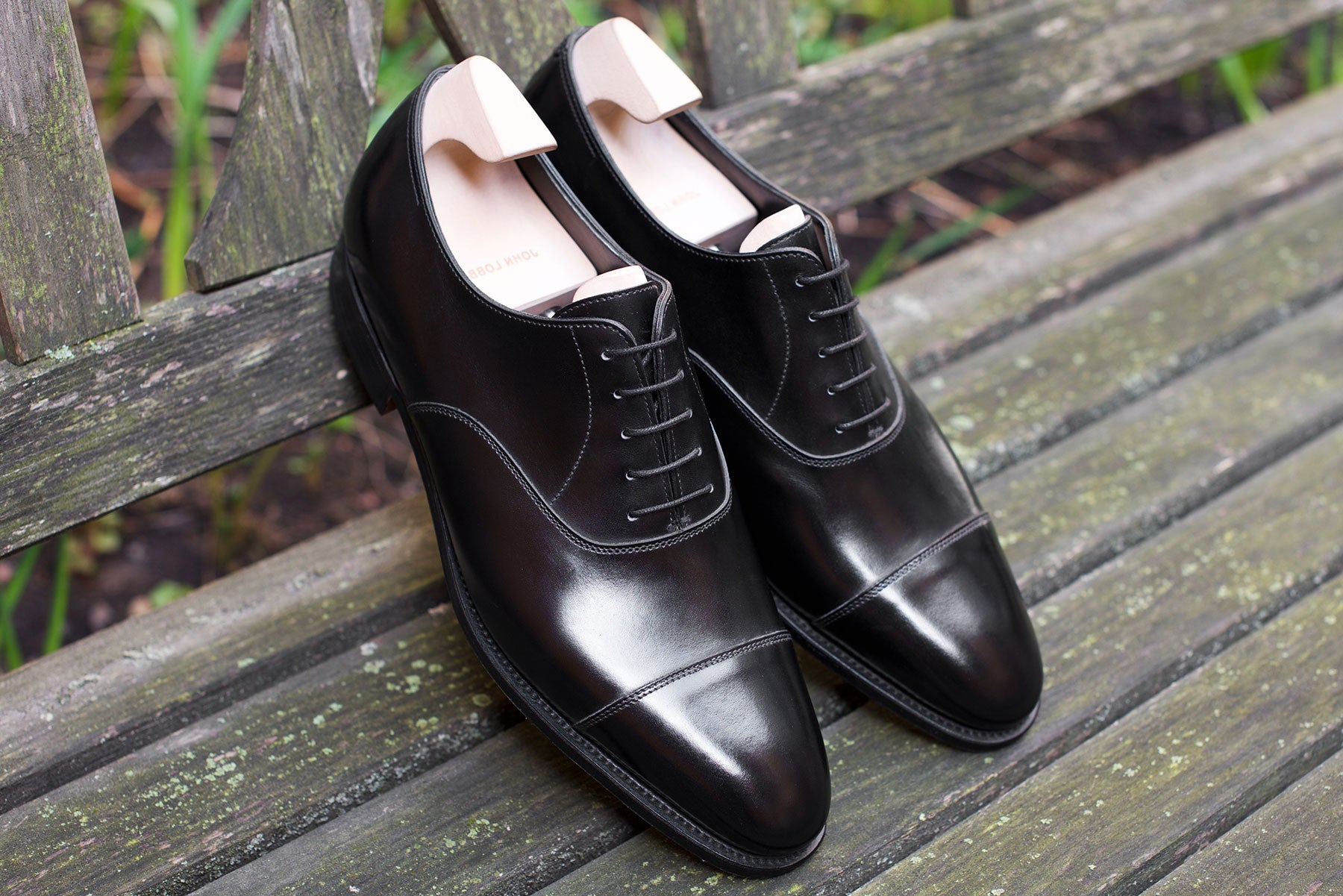 John Lobb City II Black Calf - Wide Fit