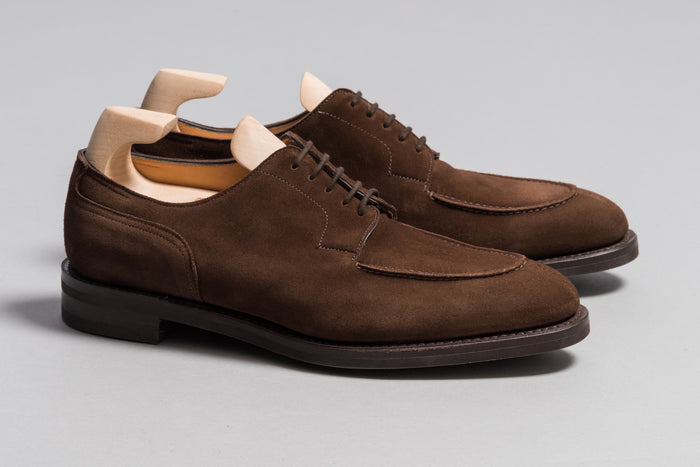 John Lobb Harlyn Dark Brown Suede - Stock Service