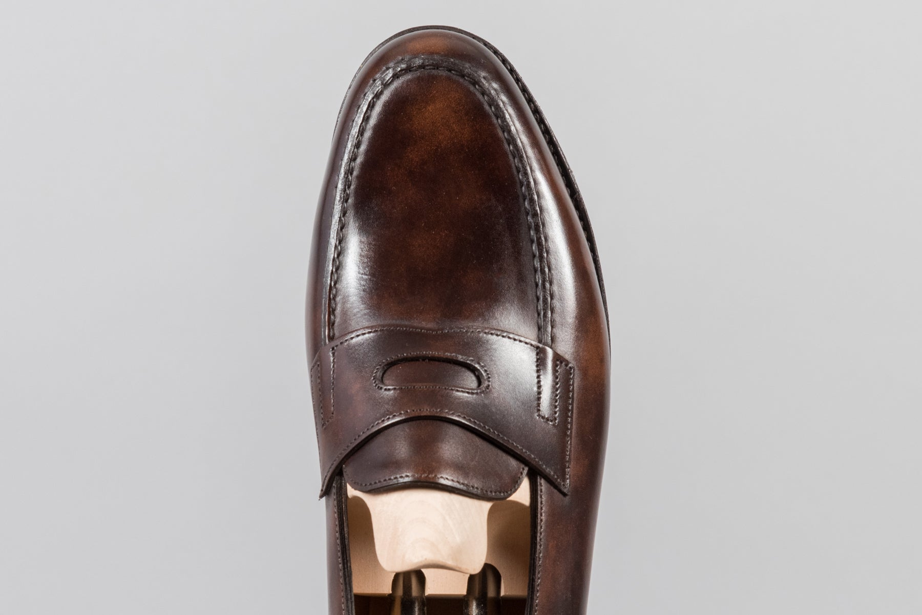 John Lobb Lopez Dark Brown Museum Calf - Stock Service