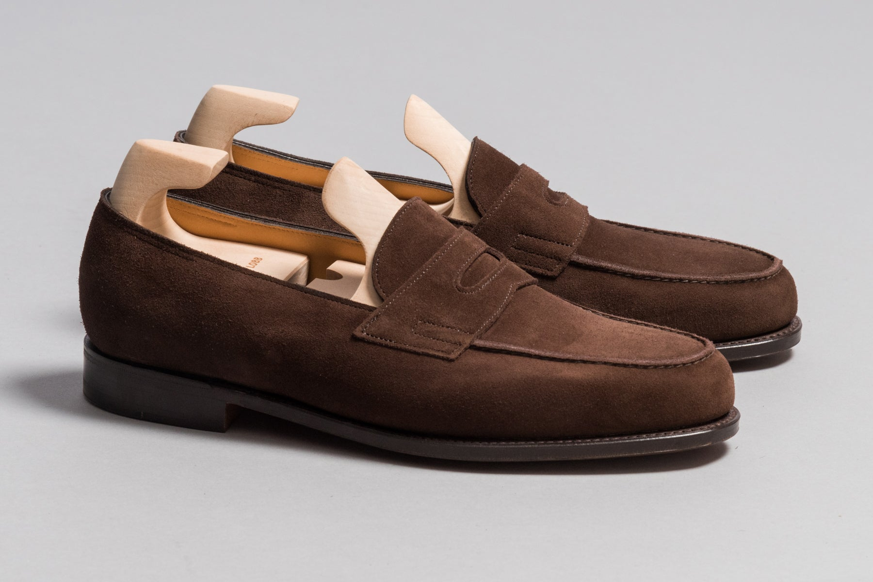 John Lobb Lopez Dark Brown Suede - Stock Service