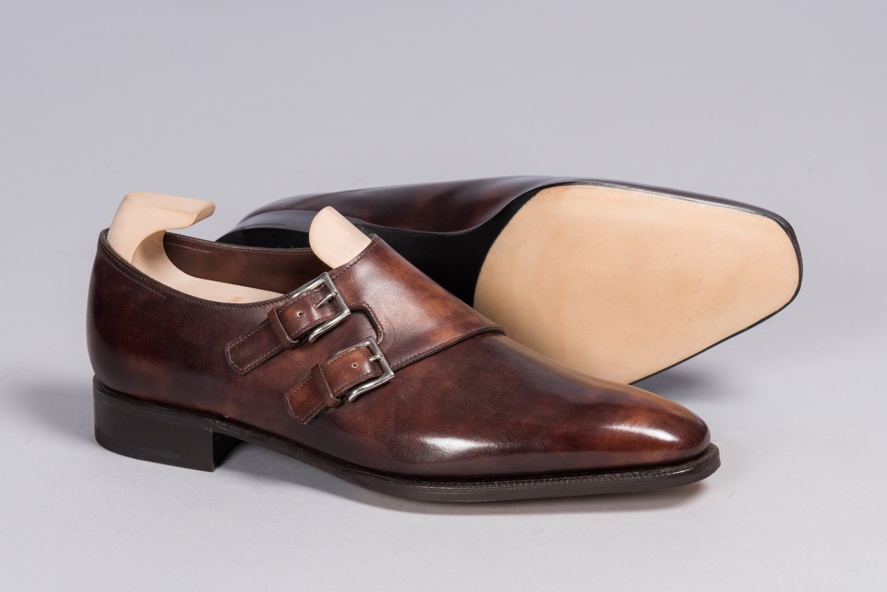 John Lobb Prestige Chapel Dark Brown Museum Calf - Stock Service