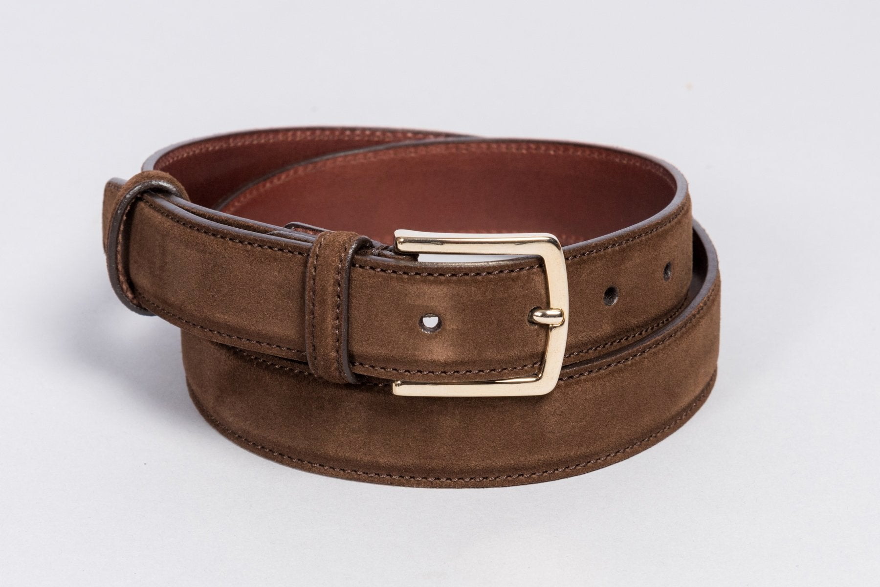 Löf & Tung Belt Brown Suede