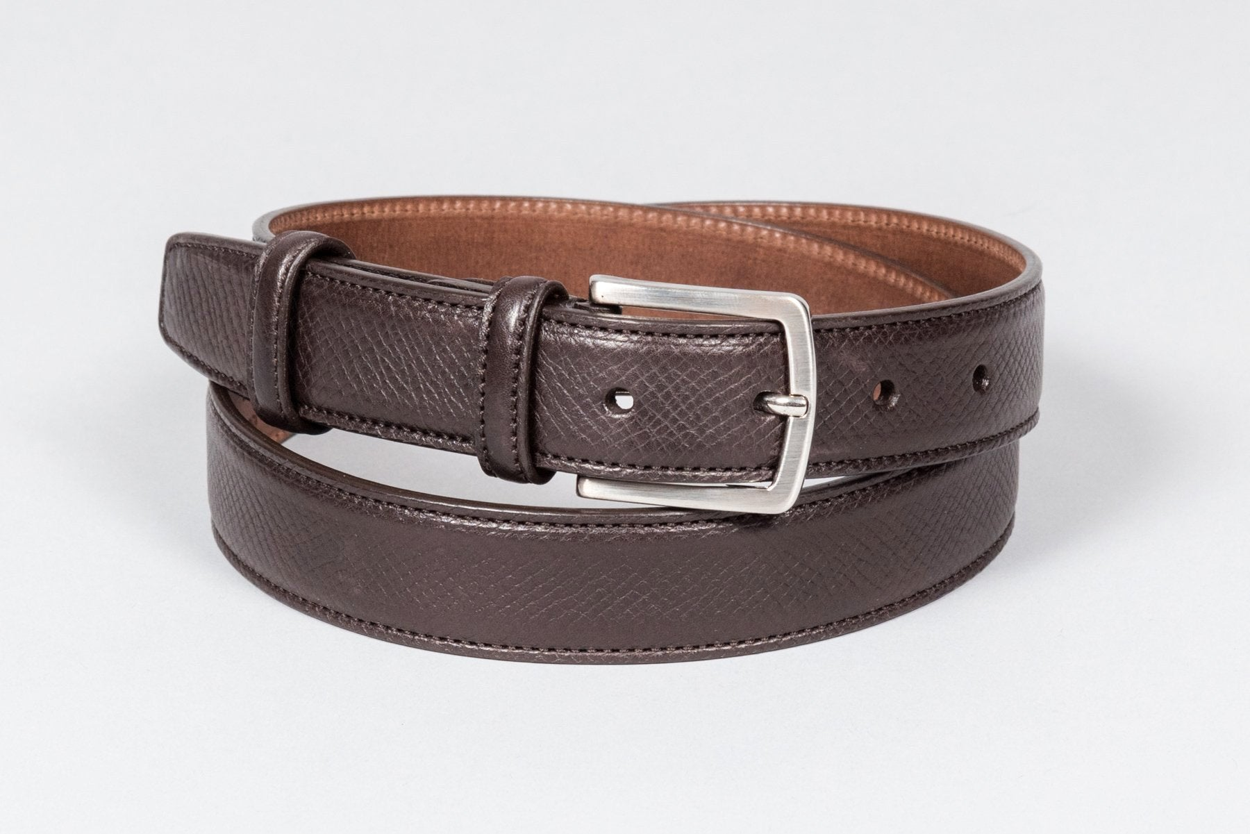 Löf & Tung Belt Dark Brown Utah Calf