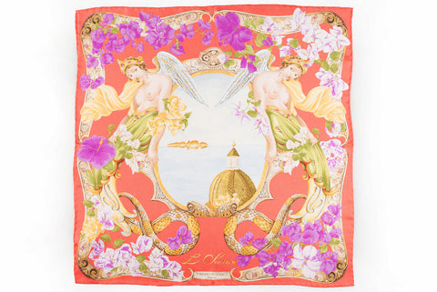 Rubinacci Pocket Square - Sirenuse Peach