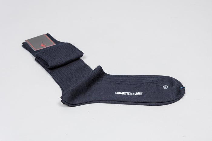 Sozzi Wool Socks - Navy