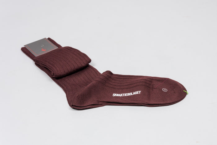 Sozzi Wool Socks - Deep Burgundy