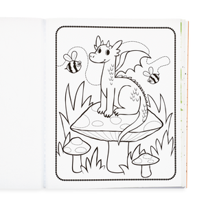 Color-in' Book: Knights and Dragons