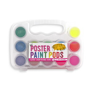 Lil' Poster Paint Pods - Glitter & Neon - Set of 12