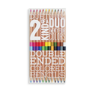 2 Of A Kind Double Ended Colored Pencils - 24 Colors