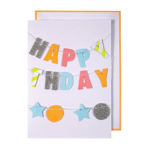 Meri Meri Card- Colorful Happy Birthday Garland