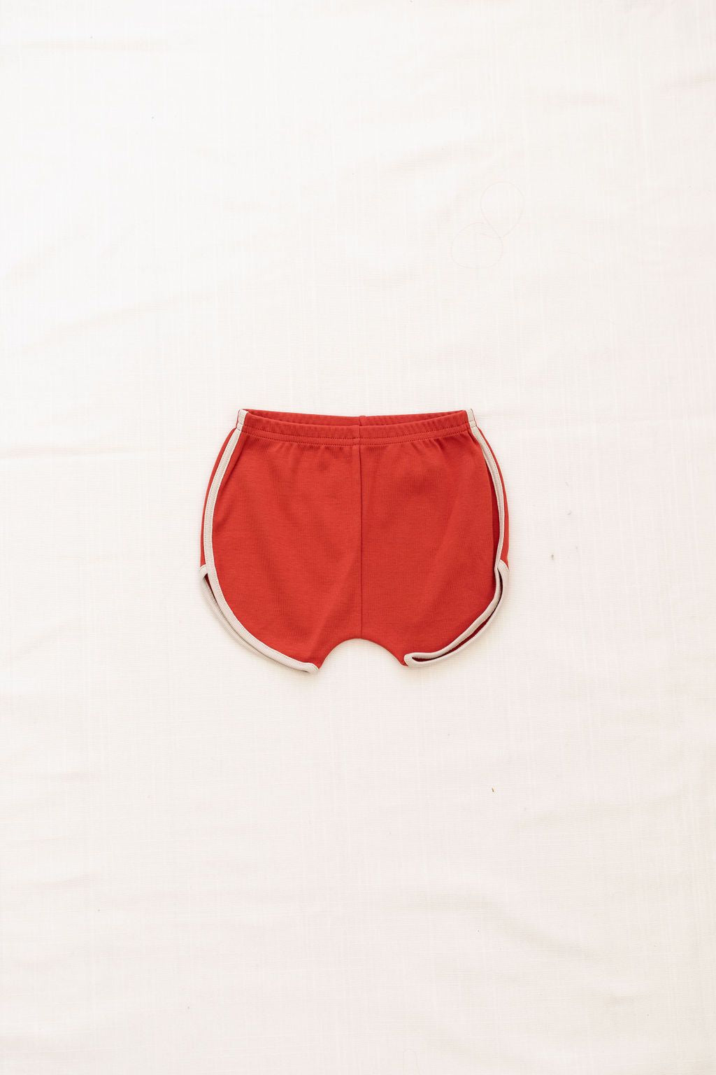 Track Shorts - Brick Red/Oatmeal Trim
