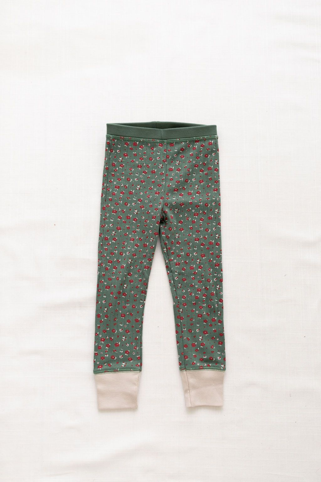Ribbed Pants - Jardin Print