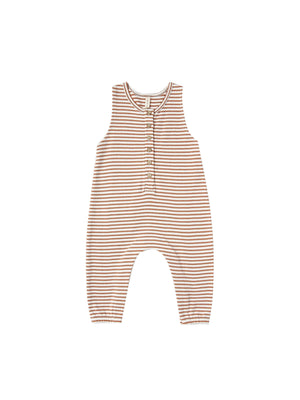 Sleeveless Jumpsuit - Rust Stripe