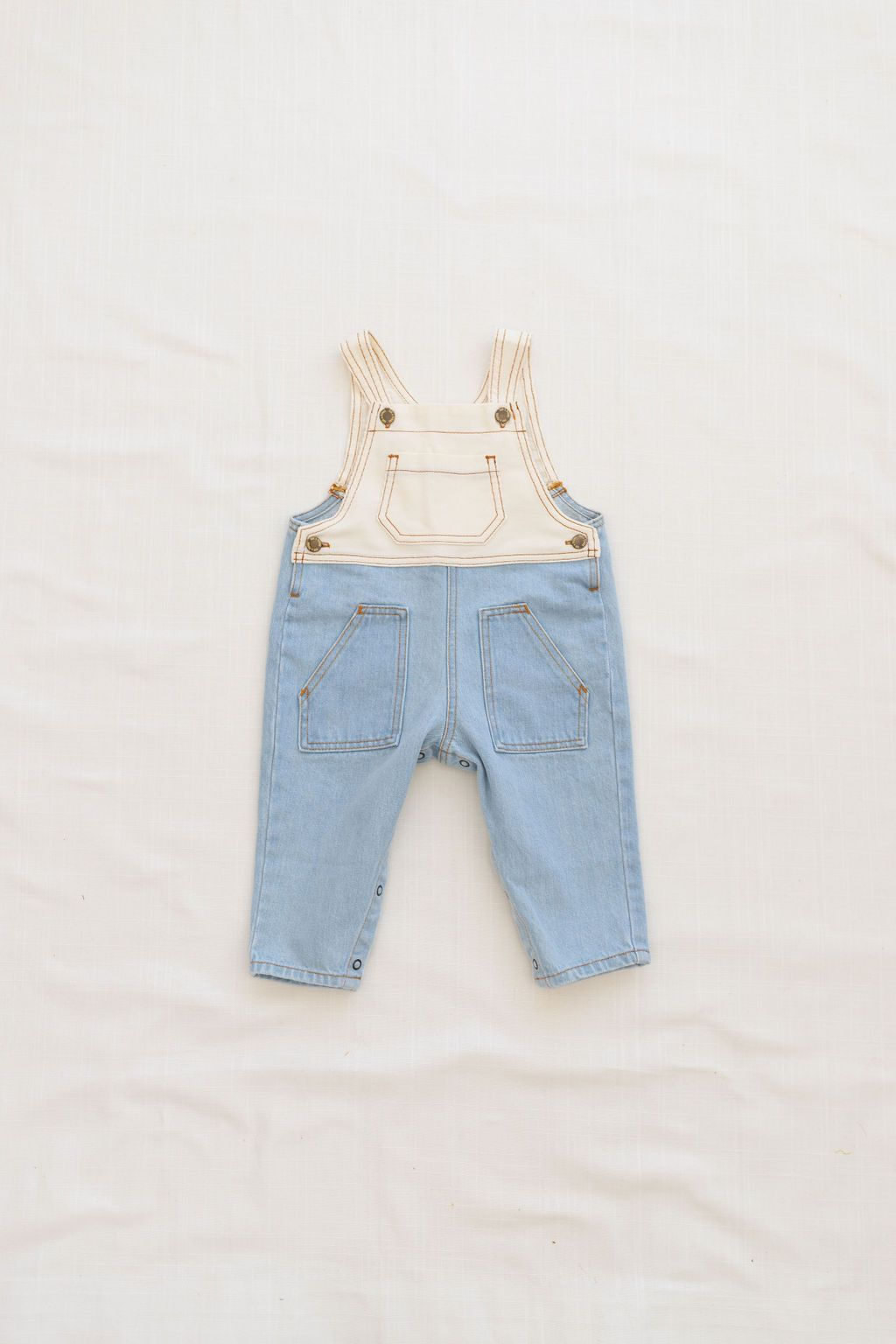 Denim Overall - Light Wash / Milk Corduroy