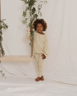 Little Flower Knit Legging - Butter