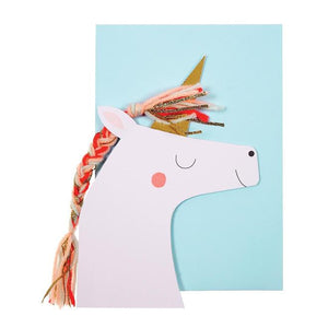 Meri Meri Card - Unicorn with Colored Braid