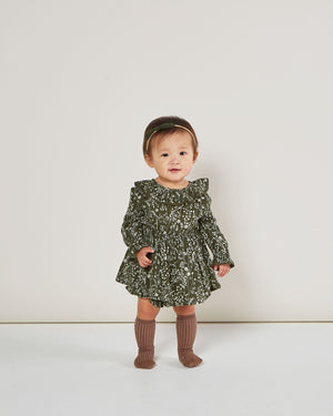 Vines Ruffle Collar Baby Dress