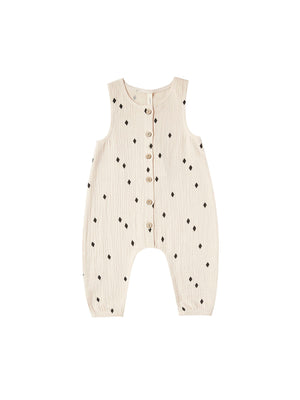 Woven Bottom Jumpsuit - Natural