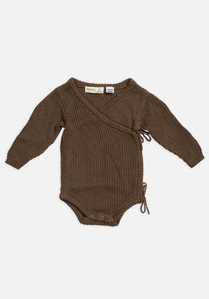 Miann & Co Baby - Knit Wrap Bodysuit - Portebello
