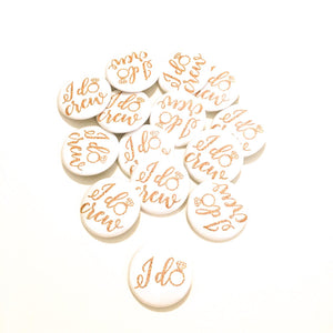 10 pcs I do crew badge pin pinback button wedding shower bachelorette party favors gift engagemnet ring faux gold glitter
