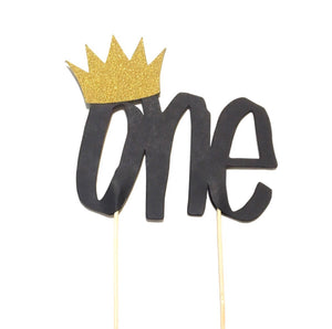 1 pc gold crown ONE cake topper wild one where the wild things are theme first birthday cake smash