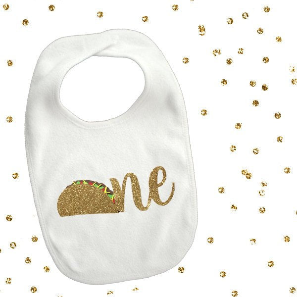 1 piece one taco bib toddler boy girl for first birthday gift cake smash photo prop fiesta party theme