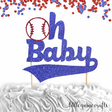 Load image into Gallery viewer, 1 pc oh baby baseball home run sports Cake Topper for baby shower Baby boy