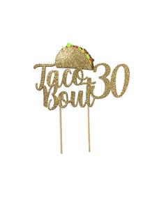 1 pc taco bout 16 18 20 21 30 40 50 60 70 80 90 cake topper gold glitter fiesta mexican party theme birthday spring summer cinco de mayo