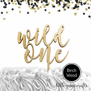 1 pc wild one raw wood or hand painted gold baltic wood laser cut rustic boho cake topper for first birthday where the wild things are