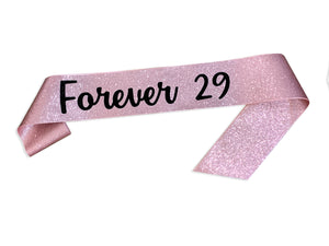 1 piece All Over GLITTER SASH with Custom text personalization name sash rose gold glitter bachelorette party wedding baby shower birthday