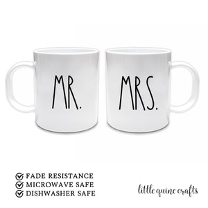 2 pcs set Mr Mrs couple coffee mug newlywed bride groom wedding engagement couple anniversary gift raedunn inspired