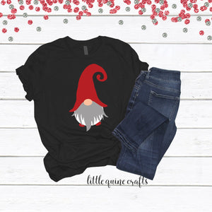 1 pc Gnome Christmas Outfit 100% COTTON Baby Toddler Kid Men's Women's Unisex family matching short sleeve t-shirt shirt Holiday gift